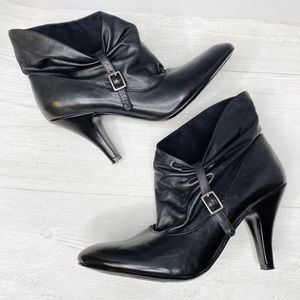 Nine West | Asymmetrical Heeled Booties Sz. 6